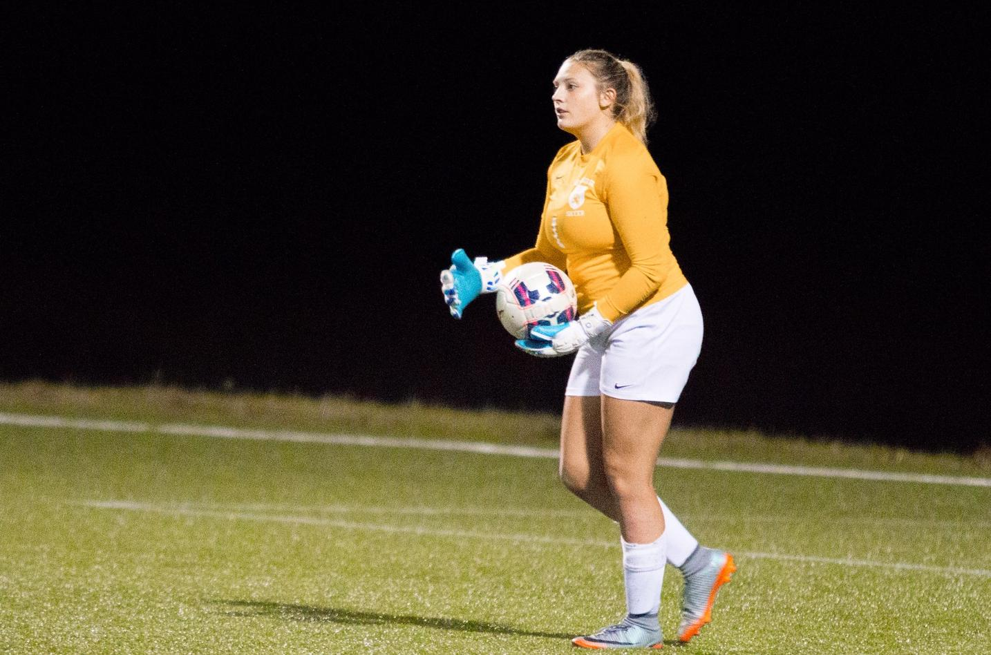 Freshman GK Bailey Kaufman kept her second consecutive clean sheet