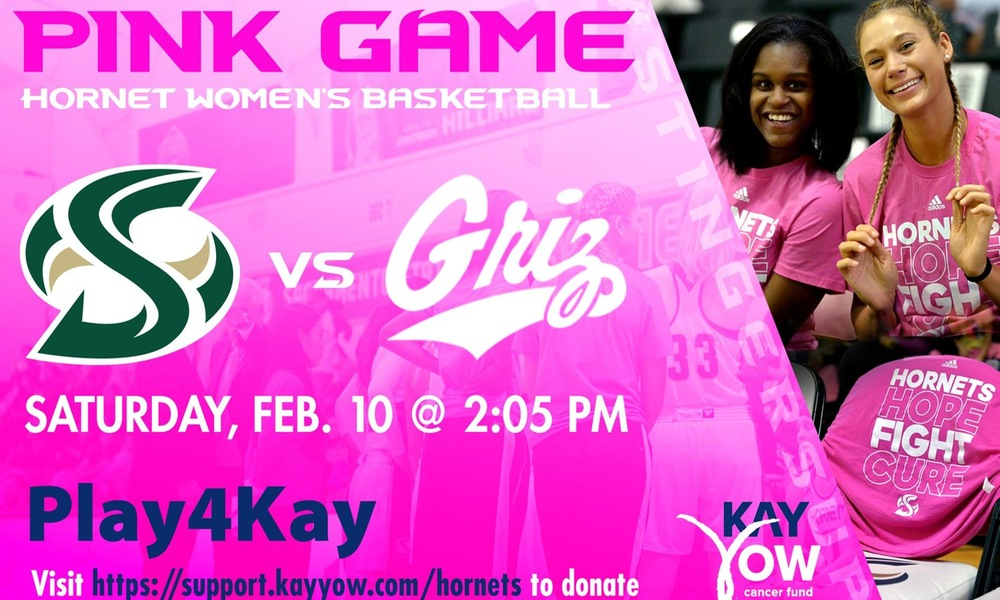 WOMEN'S BASKETBALL GOES PINK, WILL #PLAY4KAY FEB. 10 AT THE NEST