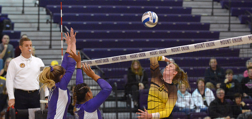 Ellen Hawkins tallies match-high tying 15 kills in final match of her career