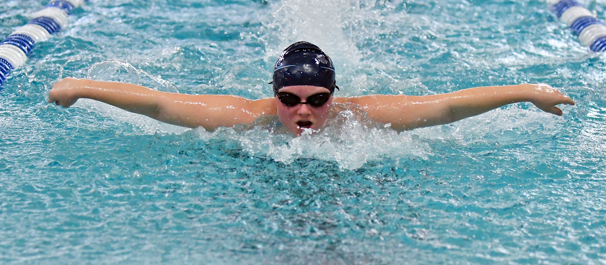 Action photo of Lyons swimmer, Ashton Bliss