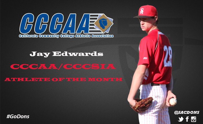 Edwards Named CCCAA Athlete of the Month