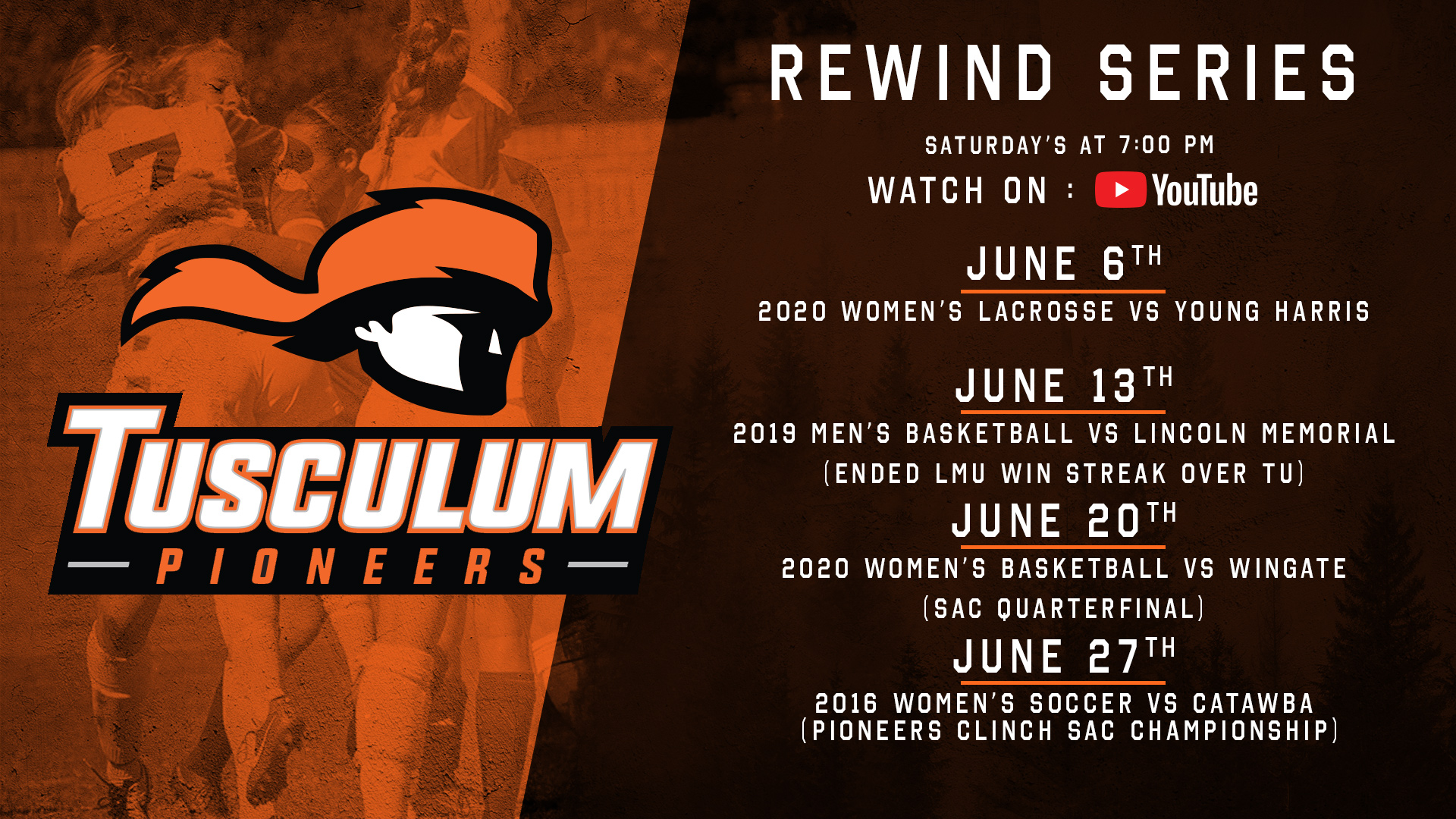 Tusculum Rewind Series continues in June