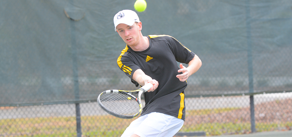 Senior Dominic Polifrone secured victories in No. 1 doubles and No. 1 singles in the 5-4 loss to Mount Union