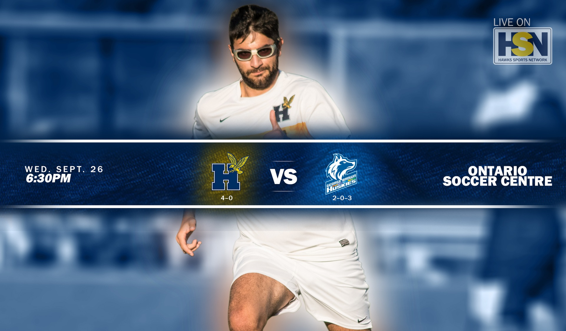 No. 2 MEN'S SOCCER FACES TOUGH TEST WITH GEORGE BROWN WEDNESDAY