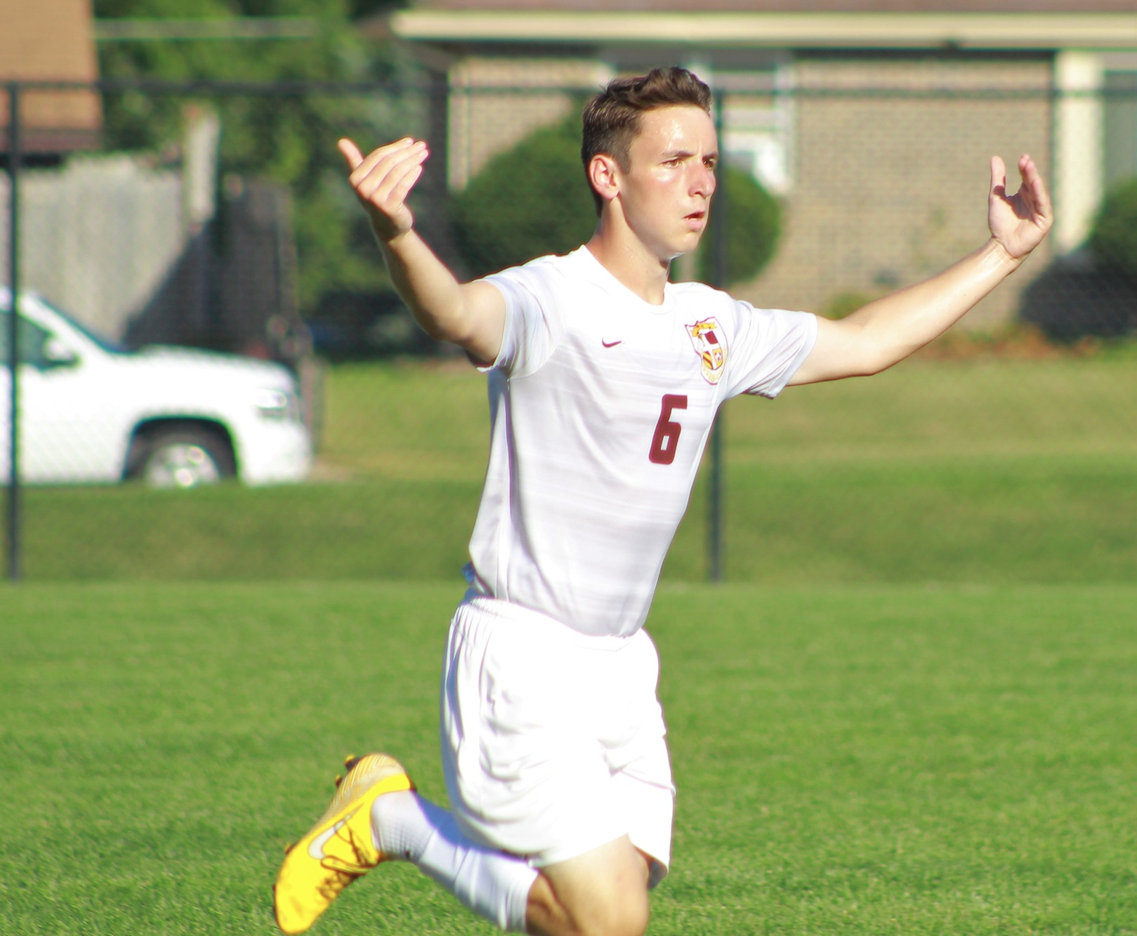 Nathan Stupka scored the only goal for the Faith Eagles in a Double OT tie with Union College