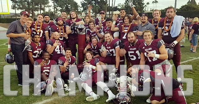 Redlands Football Captures SCIAC Championship with 7-0 Record