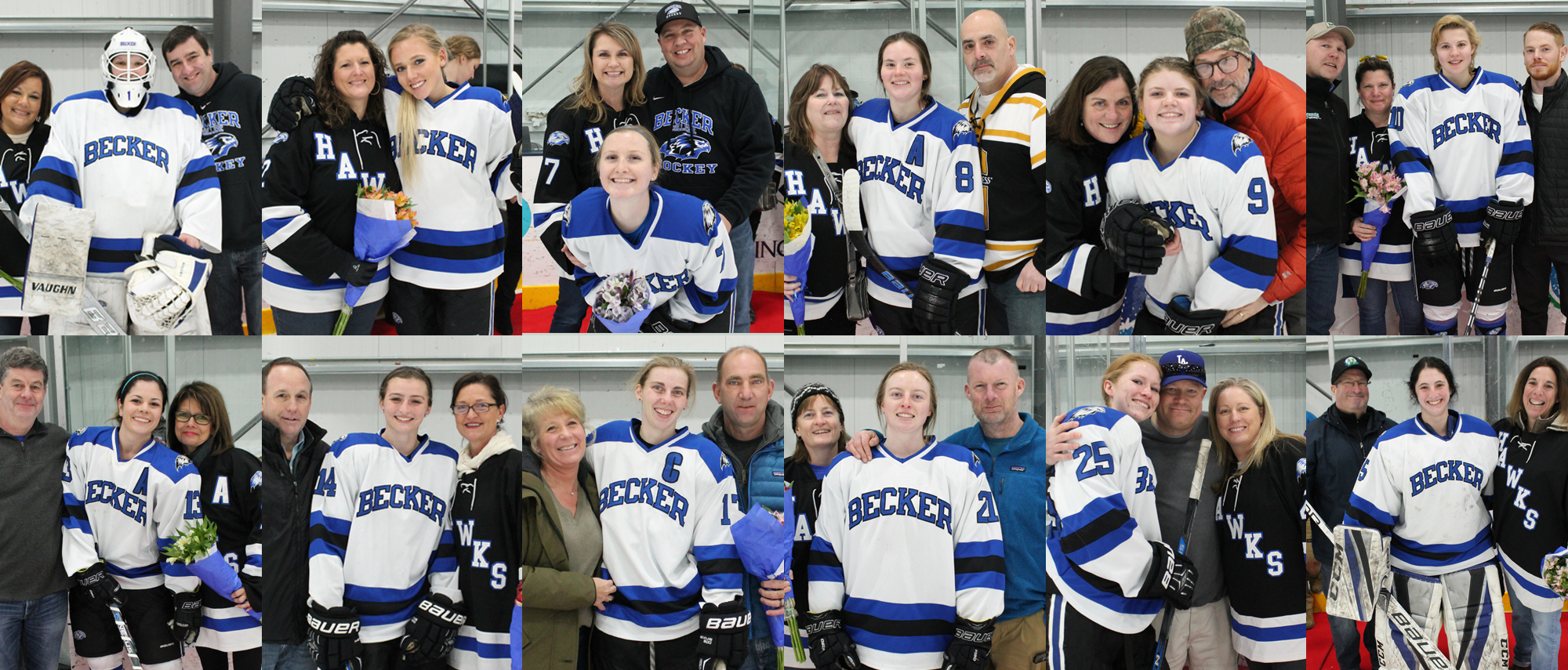 Becker women's ice hockey senior day (Feb. 9, 2019)