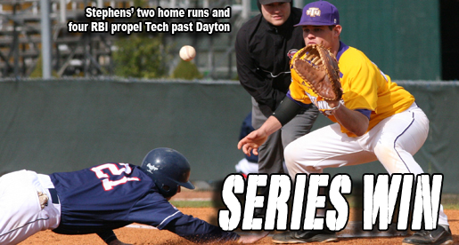 Stephens powers Tech to series win over Dayton
