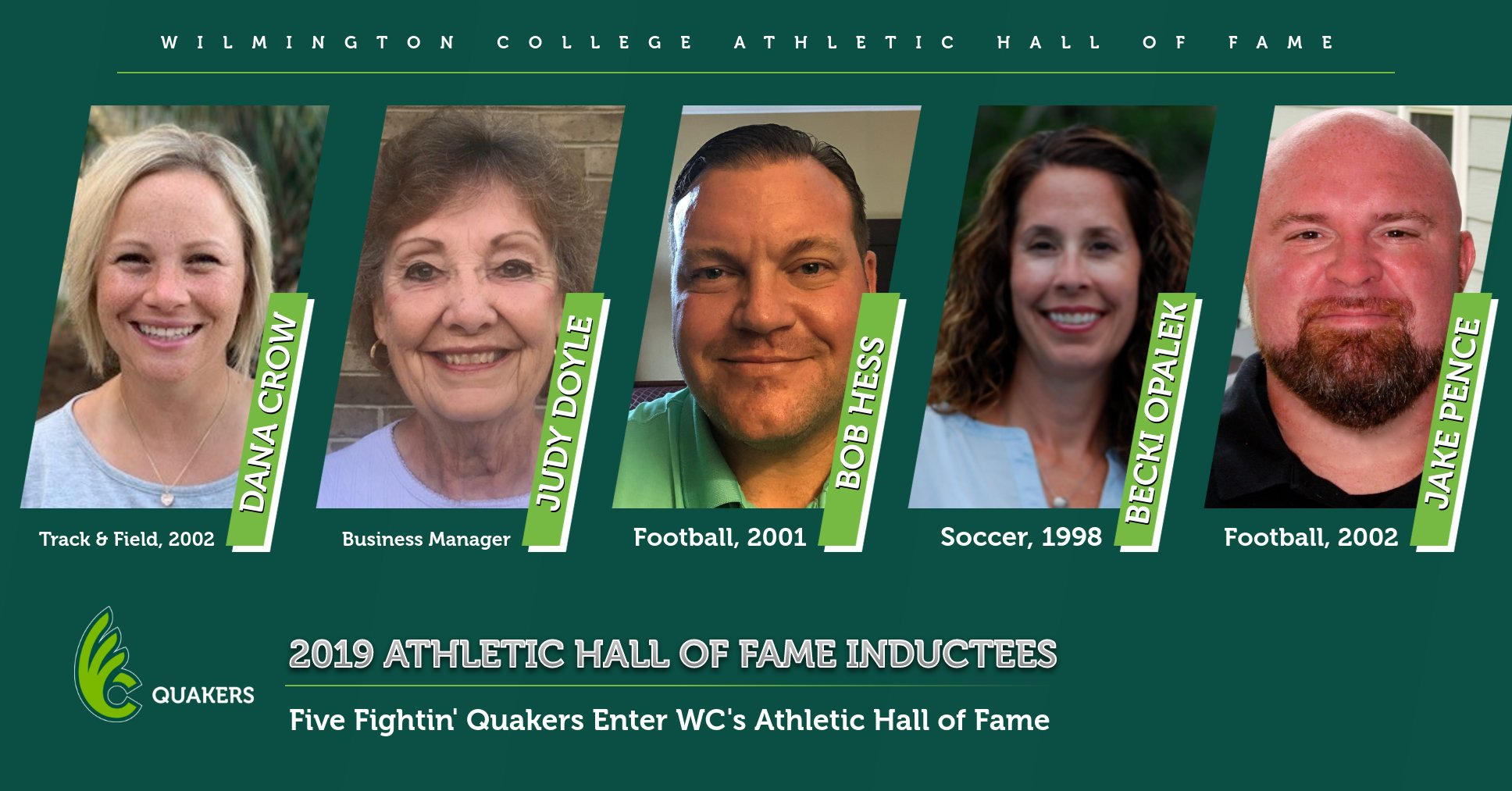 Five To Be Inducted Into Athletics Hall of Fame