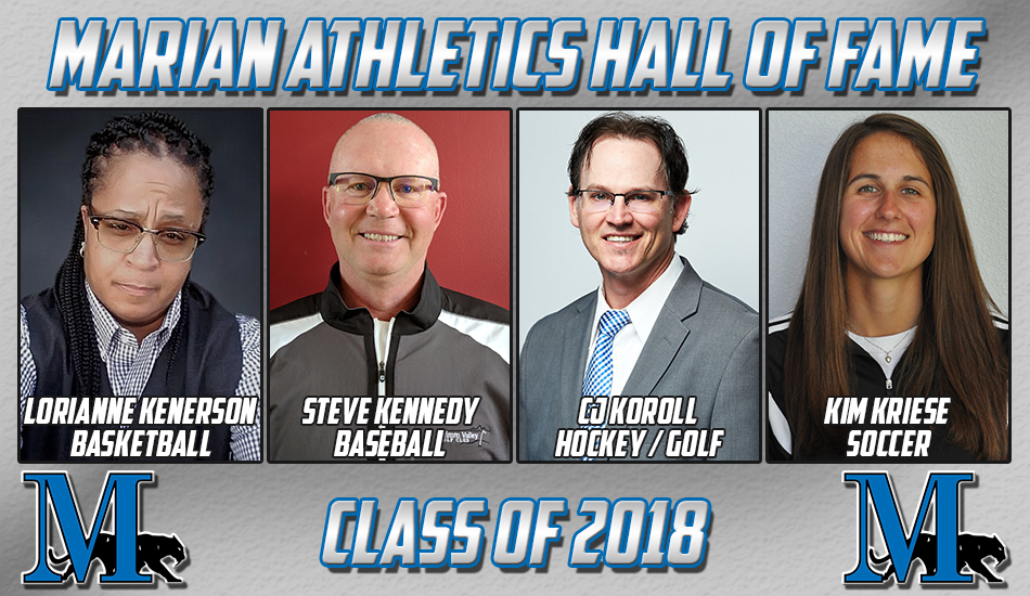 Marian athletics Hall of Fame Class of 2018