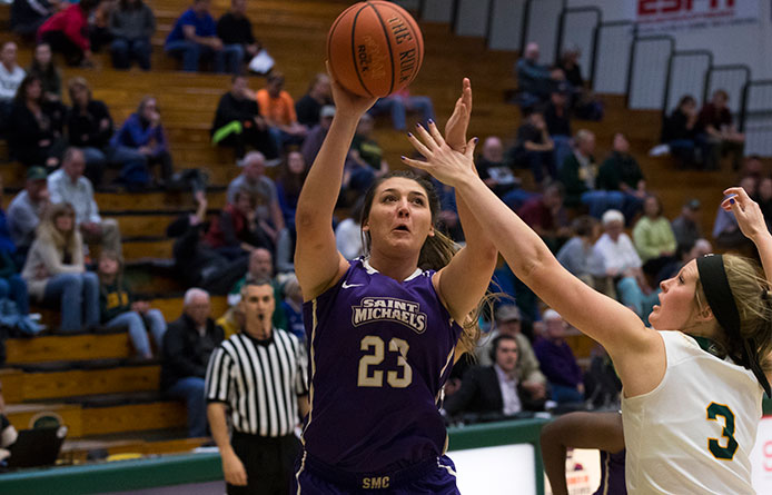 Delaney's Double-Double Leads Five in Double Figures, Purple Knights Move to 2-0