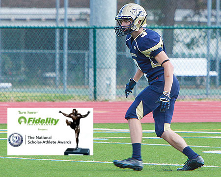 Gallaudet defensive back Denton Mallas selected as NFF candidate for the NFF National Scholar-Athlete Awards