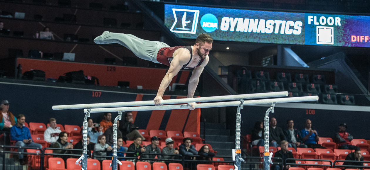Men's Gymnastics Competes At NCAA National Collegiate Championships; Lewis Advances To Vault Finals