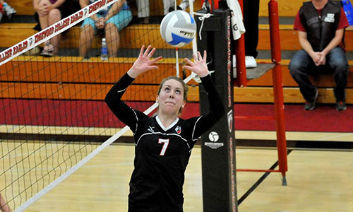 The NACC's all-time leader in assists, Edgewood's Lindsey Swansby