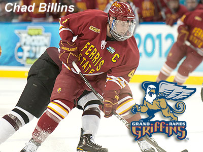 Billins Inks With AHL's Grand Rapids Griffins