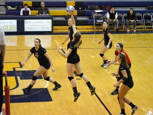 Susquehanna Defeats Catholic Volleyball 3-0 in Semifinal Competition