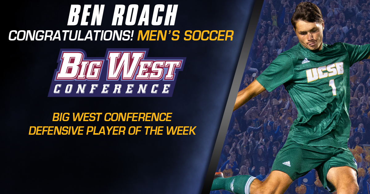 Roach Awarded Second Big West Defensive Player of the Week Honor
