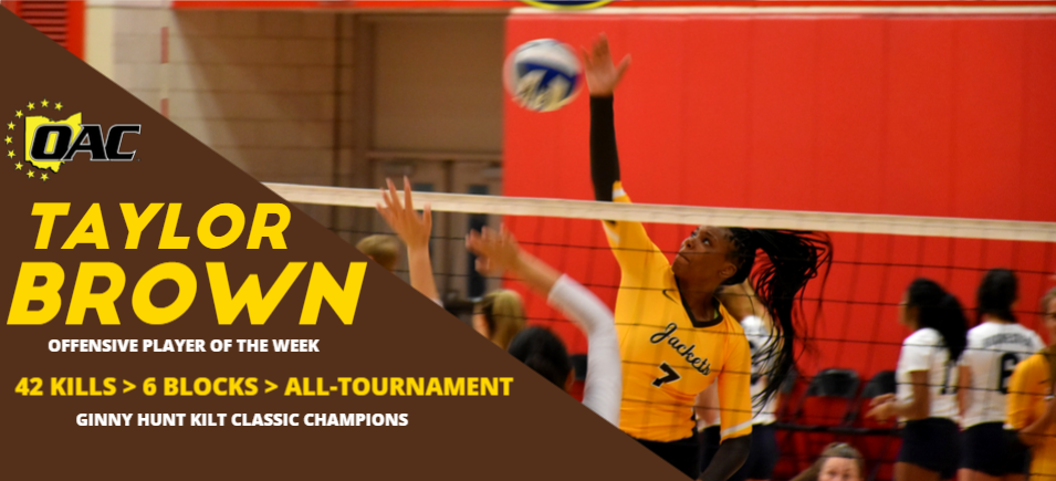 Brown Named OAC Volleyball Offensive Player of the Week