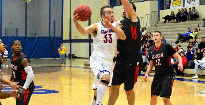 First-half lead slips away in Men's Basketball loss to Benedictine
