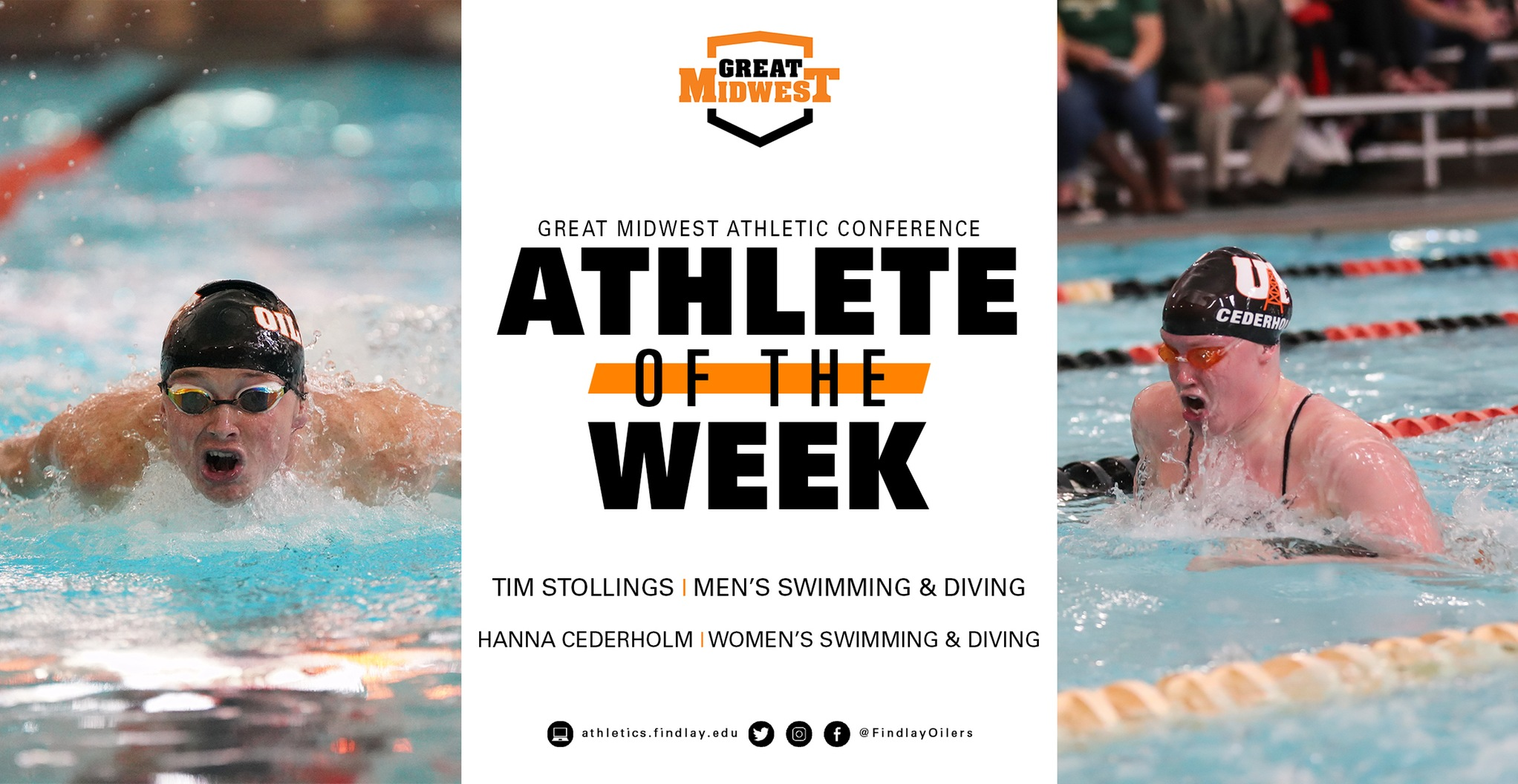 Stollings and Cederholm Collect Athlete of the Week Honors