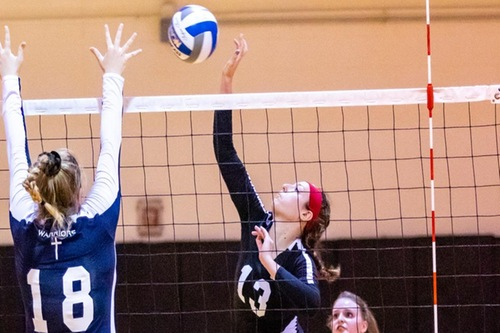 WOMEN'S VOLLEYBALL TOPS CALDWELL UNIVERSITY