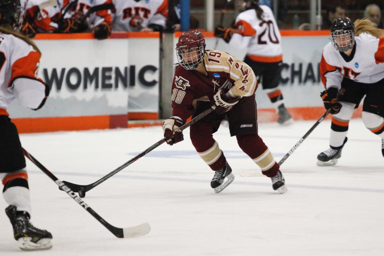 Women's Hockey: Cadets fall 4-1 to RIT in National Championship