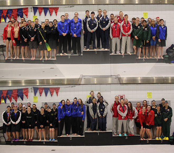 Records broken in two  events in day three of SUNYAC swimming and diving championships
