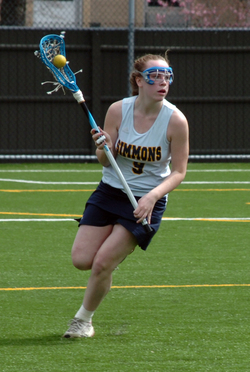 After a tentative first half, Simmons Lacrosse outscored Anna Maria College 10-4 in the second half to secure the 16-10 win at home on Monday night. Freshman Justine Beauchamp (Exeter, N.H.) scored six goals and one assist to lead the Sharks to victory. With the win, Simmons advances to 1-1 on the season, while Anna Maria falls to 1-5 overall.