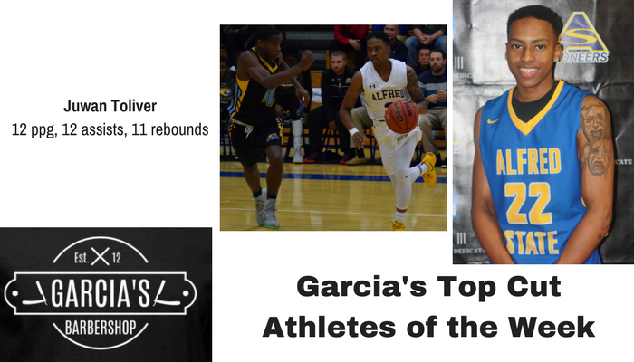 Juwan Toliver named Garcia's Player of the Week
