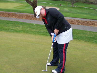 Erin Fuchik shot a team-best 152 two-round score and is presently in fifth place.  (Photo by Joe Gorby)