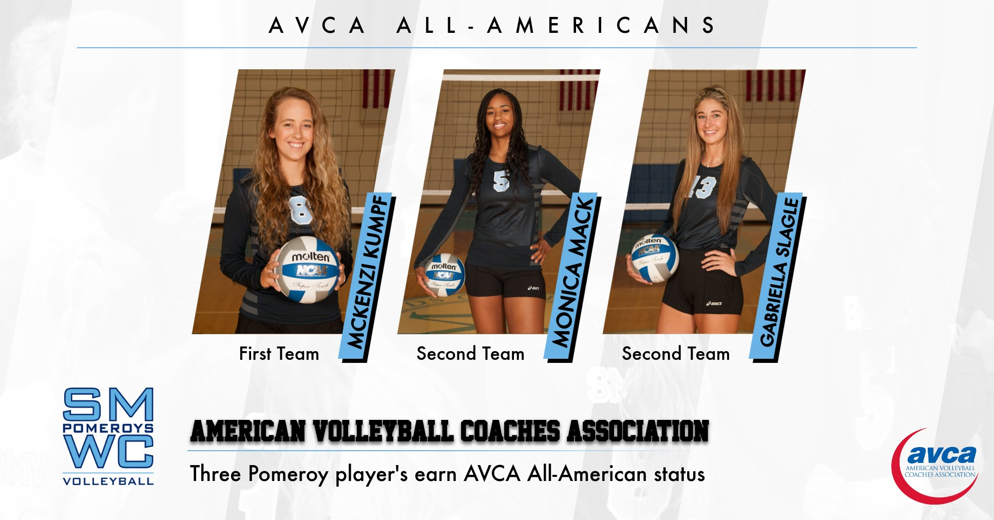 Kumpf, Mack, and Slagle Earn AVCA All-American Honors