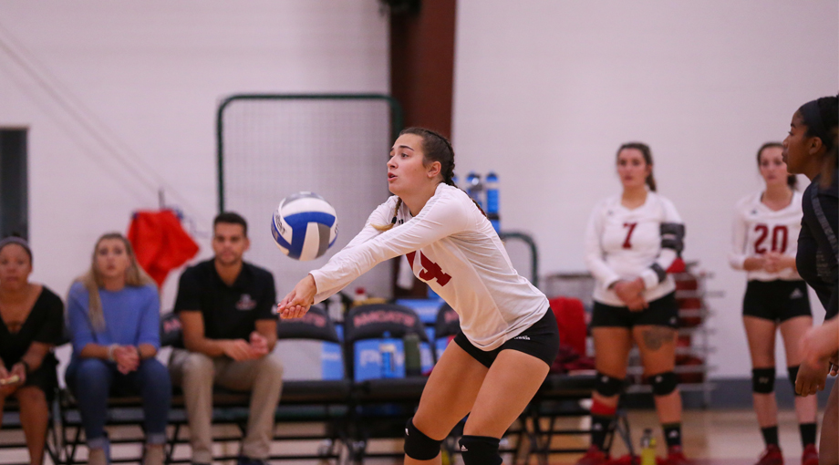 Volleyball Drops a Pair to JWU and Emmanuel, 3-0