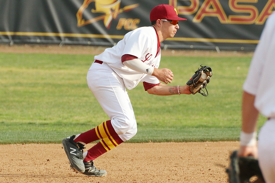 Lancer shortstop Ryan Lewis has been sparkling with the glove and makes a play in a game earlier this week.