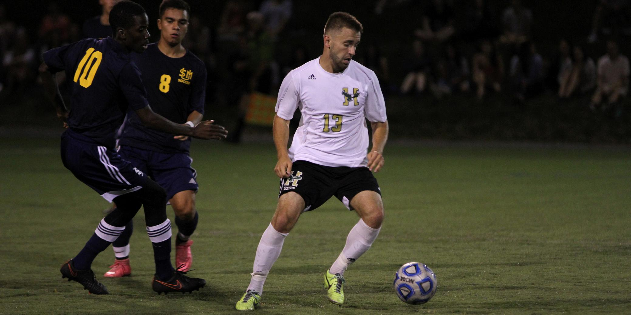 Eagles and Huskies Play to 1-1 Draw