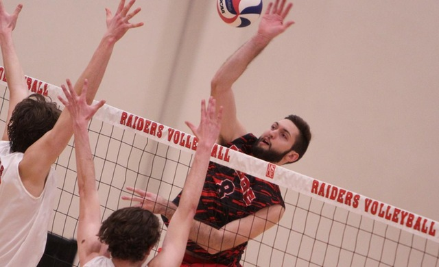 Men's Volleyball Takes Down #12 Rivier in Four Sets