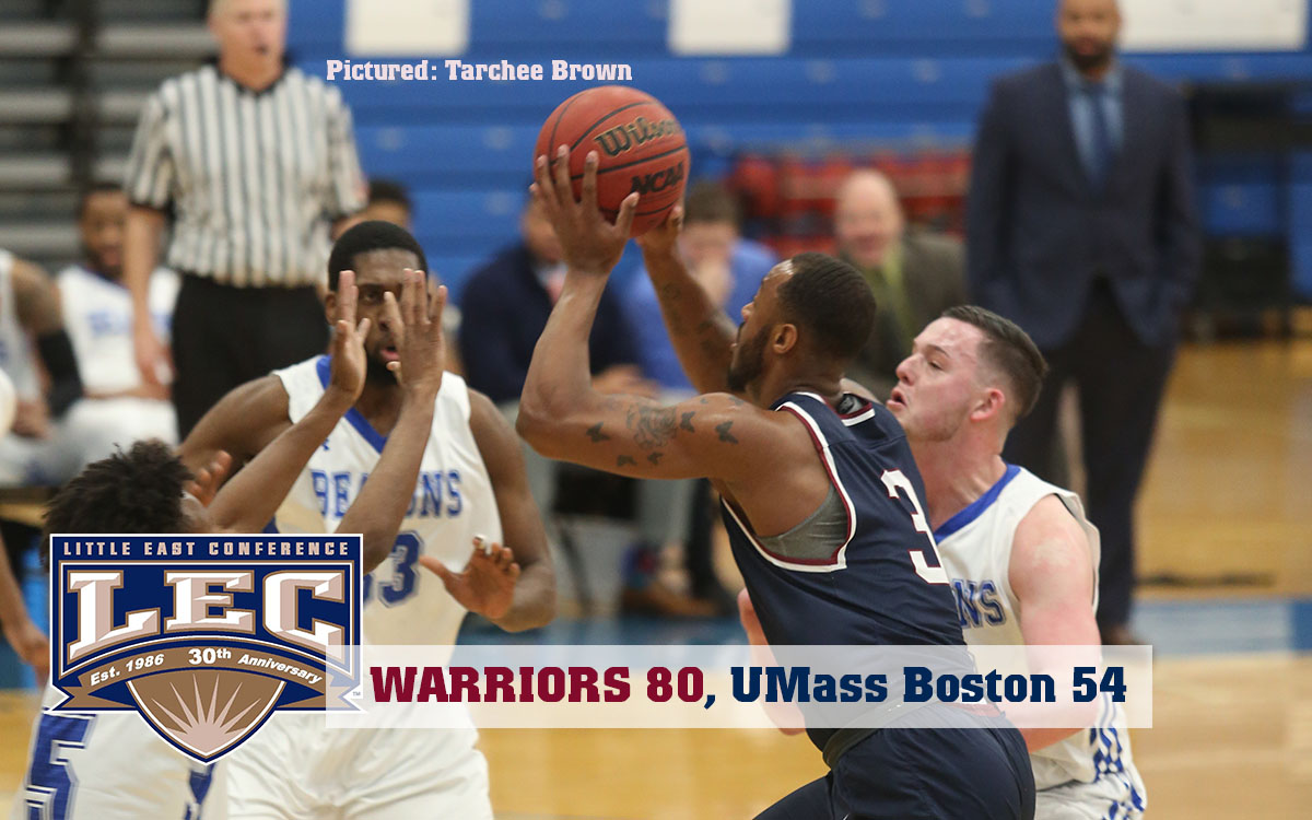 Men's Basketball: Tarchee Sets Scoring Record in Little East Rout of UMass Boston