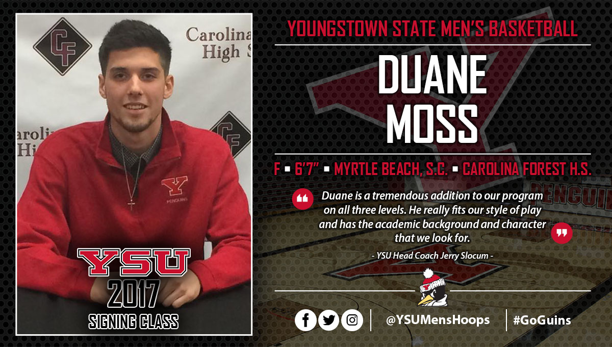 Men's Basketball Inks Duane Moss During Early Signing Period