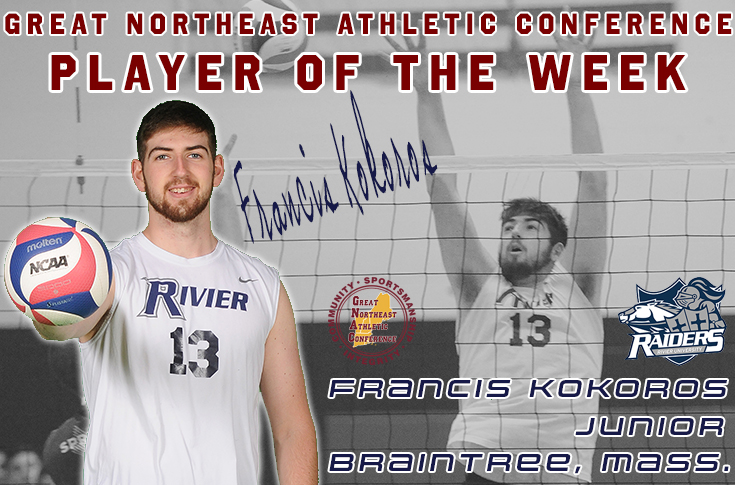 Men's Volleyball: Kokoros named GNAC Player of the Week!
