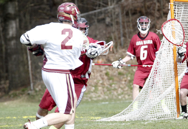 Men's Lacrosse: Mendoza Nets 100th Career Goal in 17-11 Win against Albertus Magnus