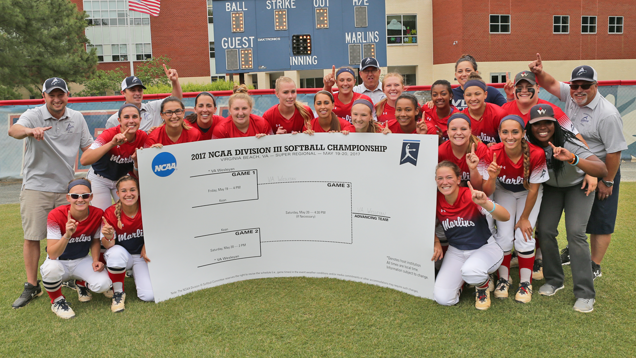 Virginia Wesleyan - 2017 NCAA Division III Softball Virginia Beach Super Regional Champions. Photo courtesy of Jerry Sprouse.