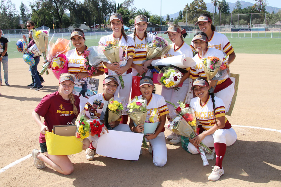 The PCC 2018 Sophomores were honored in a ceremony before the Lancers game v. San Diego City on Friday at Robinson Park, photo by Richard Quinton.