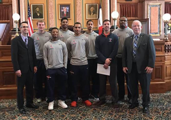Spartan Men's Basketball Honored at Capitol