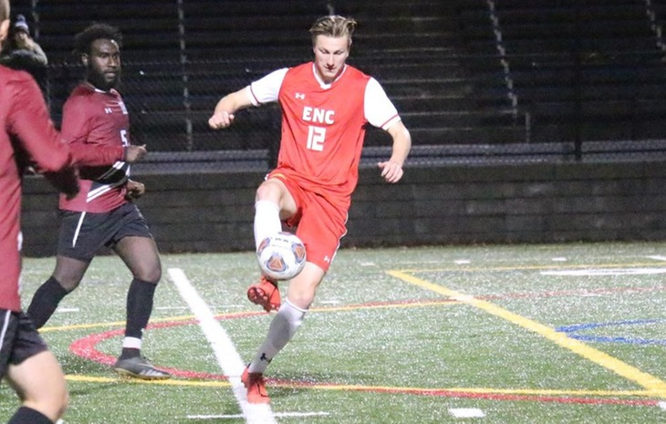 No. 3 Seed Men's Soccer Tops Sixth-Seeded Dean, 2-0, in NECC Tournament First Round