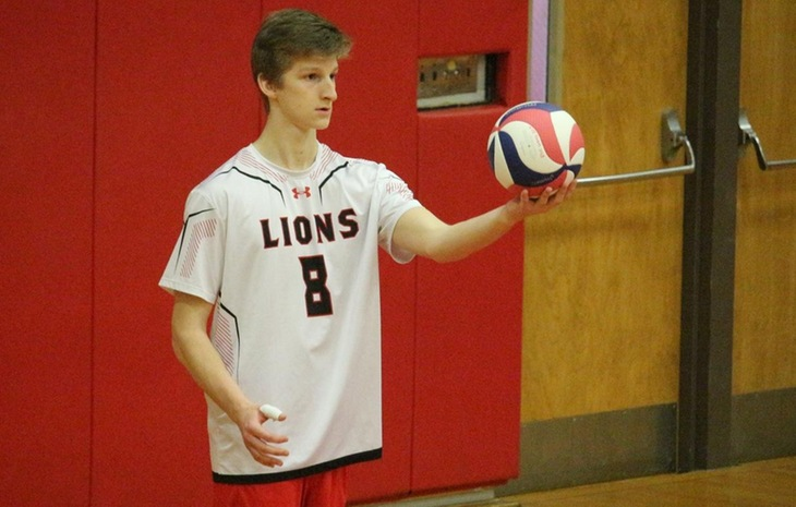 Brock Pease Named NECC Men's Volleyball Rookie of the Week