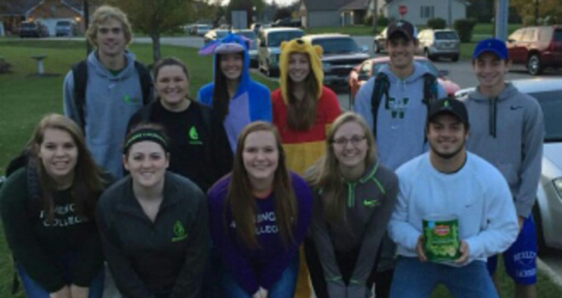 Members of SAAC participate in a Trick or Treat event. SAAC was honored for its community service involvement during the 2015-16 school year.
