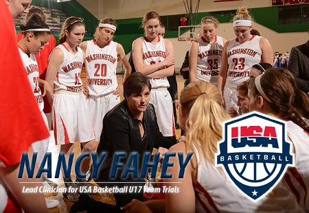 Nancy Fahey of Washington University Named Lead Clinician for USA Basketball U17 Team Trials