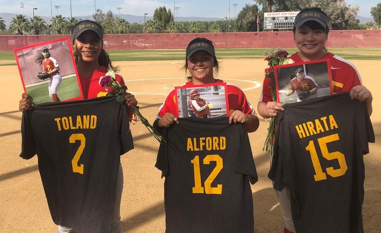 COD Softball celebrates Sophomore Day