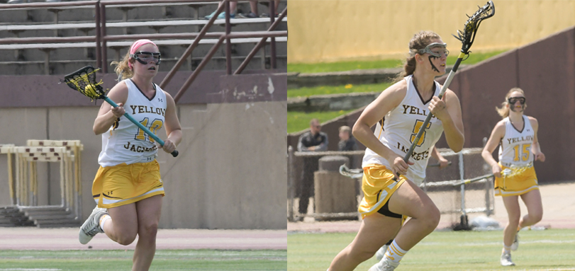 All-OAC midfielders Megan Patrick and Hannah Stein