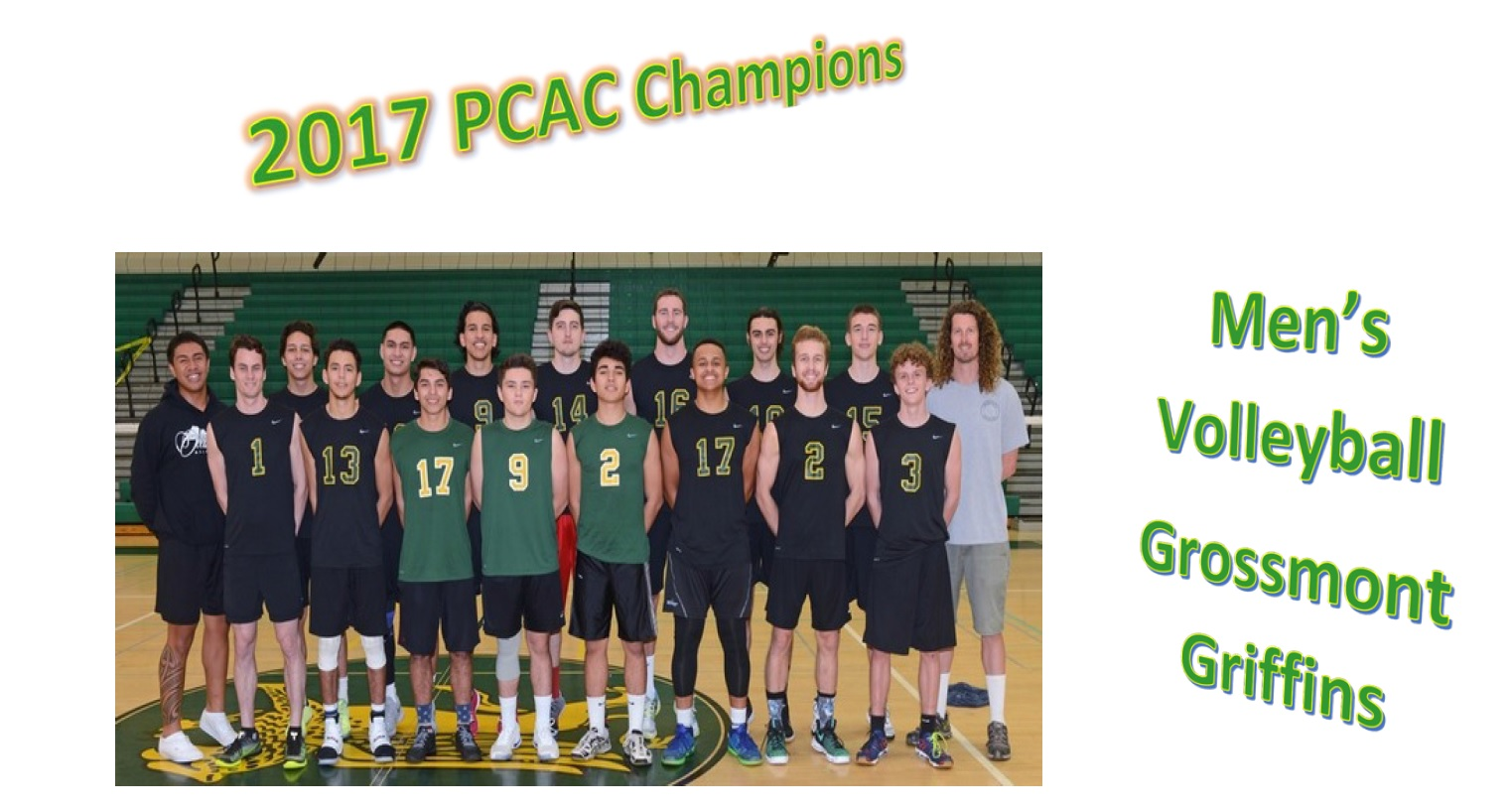 Men's Volleyball 2017 PCAC Champions!