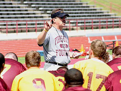 Head Coach Jeff Pierce and the Bulldogs held their first practice on Friday